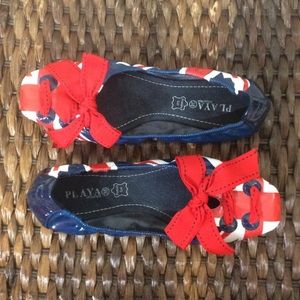 PLAYA Ballet Shoe W/British Flag 8 NEW